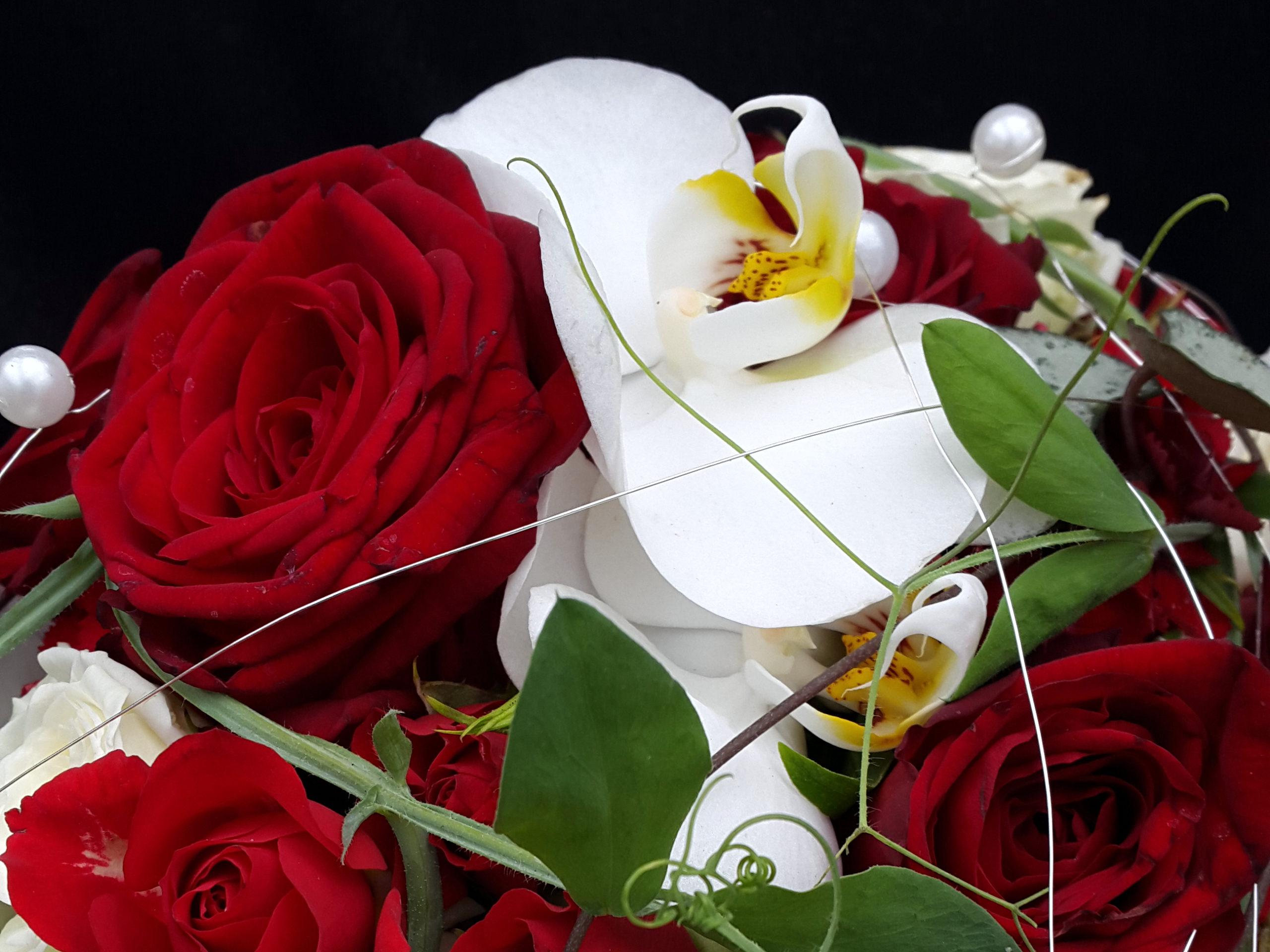 Brautstrauß Detail Mit Orchideen